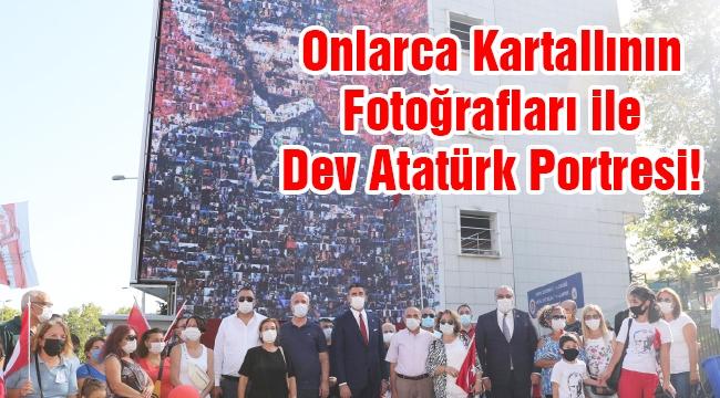 Onlarca Kartallının Fotoğrafları ile Dev Atatürk Portresi!