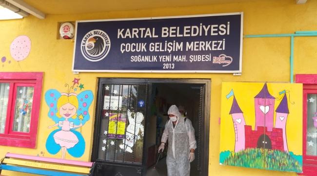 Yeni Eğitim Öğretim Yılı Öncesi Kartal Belediyesi Kreşleri Dezenfekte Edildi
